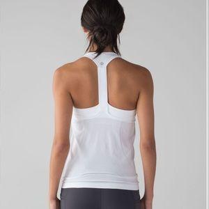 Lululemon Swiftly Tech T-Back White / White